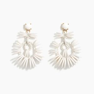 J.Crew White Disc Statement Earring